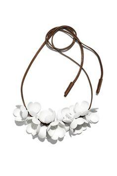 White blossom necklace via Marni for H&M