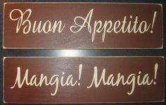 Italian signs - Eat! Eat!