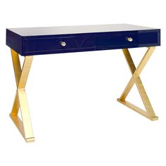 Worlds Away Jared Navy Desk @Zinc_Door