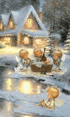 The perfect Angelic Snowy Good Animated GIF for your conversation. Discover and Share the best GIFs on Tenor. Christmas Tree Scent, Christmas Night, Christmas Scenes, Christmas Pictures, Christmas Angels, Christmas Art, Christmas Greetings, Beautiful Christmas, Illustration Noel