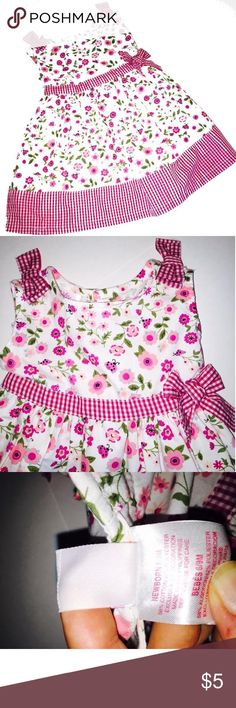 Floral Dress 6-9M Baby Beri 6-9M Floral Dress  Perfect for flower girl Freshly laundered, only ever used baby detergent   No flaws, Excellent condition  Smoke free home   Shop on and bundle this with other great finds for an awesome deal!    Be sure to Like, Share, Follow, and ask any questions!  Thanks for visiting my closet!    All proceeds go to Giovanni's college fund and pool fund so he has something fun for his next Florida summer!😃Shipping level set for bundle purposes, if you would…