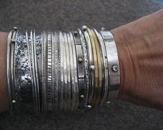 Love all these bangles. #SterlingSilverBrooches