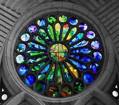 rose window la sagrada familia barcelona images | Rose Window, Basilica de Sagrada Familia -Barcelona- by Aditya Karnad