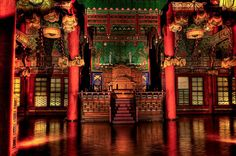 Capture the Colour – The Sajin King On Throne, Throne Room, Ancient Chinese Architecture, Asian Architecture, Fantasy Concept Art, May Bay, Oriental Design, China Travel, Environmental Art