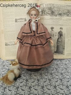 "12"" french fashion  doll dress"