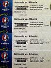#Ticket  4 x EURO Tickets Romania vs. Albania Rumänien vs. Albanien  Category 3 #nederland