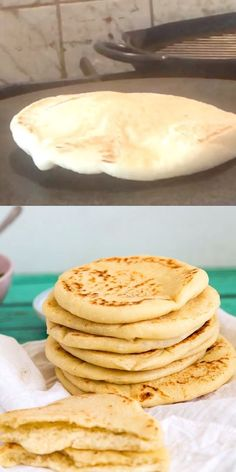 When you think Middle Eastern or Mediterranean food the humble pita always comes to mind. This is a simple, easy and effortless recipe for pita bread also known as pocket bread. The result is a soft, Greek Recipes, Indian Food Recipes, Simple Food Recipes, Bread Recipe Video, Soft Bread Recipe, Cracker Bread Recipe, Homemade Pita Bread, Homemade Recipe, Sandwich Recipes