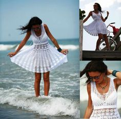 Looking for your next project? You're going to love Free summer crochet dress by designer marifu6a.  I very much wish I could crochet.  This would be such a pretty cover up dress.
