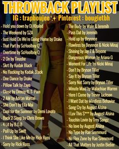 Throwback Playlist, Rap Playlist, Throwback Songs, Music X, Music Mood, Music Lyrics, Music Songs, Lit Songs, Mood Songs