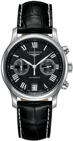 @longineswatches Master Collection Mens #add-content #bezel-fixed #bracelet-strap-leather #case-material-steel #case-width-38-5mm #chronograph-yes #date-yes #delivery-timescale-1-2-weeks #dial-colour-black #gender-mens #l26694517 #luxury #movement-automatic #new-product-yes #official-stockist-for-longines-watches #packaging-longines-watch-packaging #style-dress #subcat-master-collection #supplier-model-no-l2-669-4-51-7 #warranty-longines-official-2-year-guarantee #water-resista...