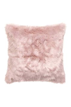 Faux fur cushion cover: Cushion cover in faux fur with a woven cotton back and a concealed zip. Cute Bedroom Ideas, Cute Room Decor, Girl Bedroom Designs, Room Ideas Bedroom, Girls Bedroom, Bathroom Designs, Pink Bedrooms, Pretty Bedroom, Small Bedrooms