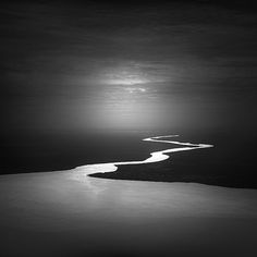 Black and White Photography: Black River, Kalimantan, Java