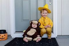 Halloween costumes, Curious George and the Man with the Yellow Hat