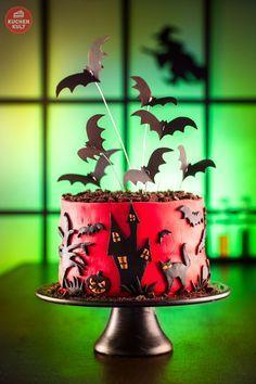 Halloween Kuchen Torte Motiv Fledermäuse