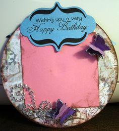 ** Make A Handmade Birthday Card Using A Recycled CD @bonjiecantu