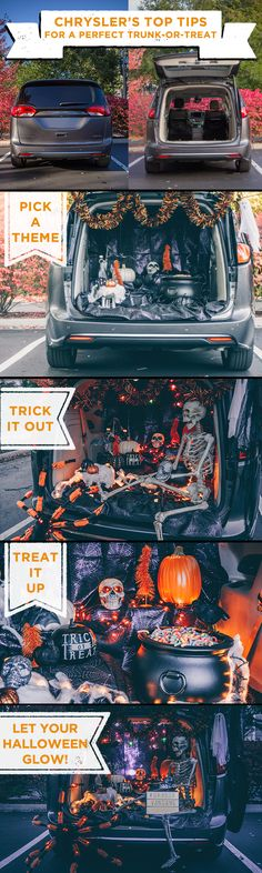 Chrysler Pacifica Trunk-or-Treat Outdoor Halloween, Halloween 2019, Holidays Halloween, Fall Halloween, Halloween Party, Happy Halloween, Halloween Yard Decorations, Halloween Themes, Halloween Crafts