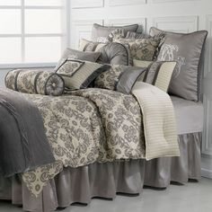 The Kerrington Bedding Collection - Shop this and other HiEnd Accents bedding sets: http://www.andersonavenue.net/hiend-accents-bedding-by-homemax.html