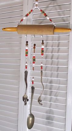 Items Similar To Wind Chime Rolling Pin Kitchen Oh Hy Day By Pingtimeandchimes On Etsy