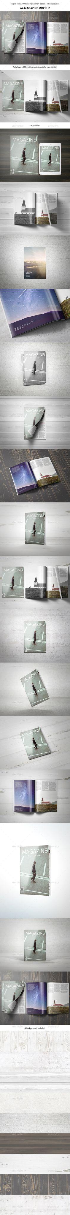 A4 Magazine Mockup | Download: http://graphicriver.net/item/a4-magazine-mockup/9992209?ref=ksioks