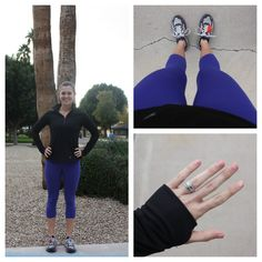 Old Navy Compression Capris and Running Top
