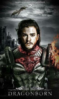 Jon as Azor Ahai