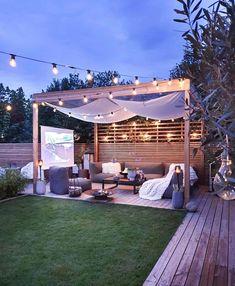 Backyard Seating, Backyard Patio Designs, Backyard Landscaping, Back Gardens, Outdoor Gardens, Garden Sitting Areas, Back Garden Design, Outdoor Living, Outdoor Decor
