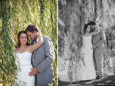 Anna Lee Media, Oklahoma wedding photographer, willow tree, couple pose, bride and groom, day after shoot  Day after shoots give you an opportunity to get creative unique bridal portraits in a cool location that you don't otherwise have time for on the wedding day.