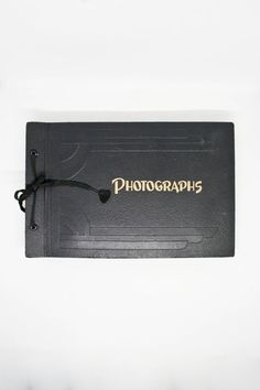 Leather Embossed Photo Album Vintage Blank Photo Album | Etsy