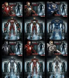 #ironman #suits #armor #ironmansuits