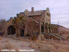 train depot, rhyolite (mining ghost town), nevada