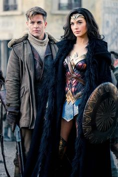 "Gal Gadot as Diana Prince and Chris Pine as Steve Trevor, ""Wonder Woman"" Definitely worth the watch. The best film I've seen in a long time. Gal Gadot is the perfect fit as Wonder Woman. Wonder Woman Film, Gal Gadot Wonder Woman, Wonder Women, Chris Pine, Marvel Dc, Super Heroine, Hallowen Costume, Halloween, Justice League"