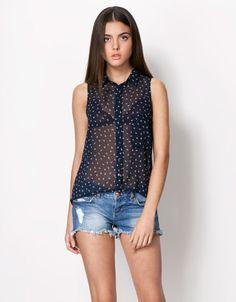 Bershka España - Camisa Bershka estampado geométrico