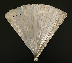 Fan (Brisé)  Date: 18th century Culture: French Medium: mother-of-pearl