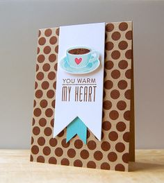 Whipping Up Scent-sational Cards Challenge - You Warm My Heart Card by Cristina Kowalczyk for Papertrey Ink (August 2013)