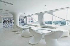 modern resturant design | Modern Restaurant with White and Soft Organic Interior The Smokehouse ...