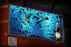 August 10, 2012 - Denuology.com: Blank Billboard Unveils Itself Through UV Paint At Night