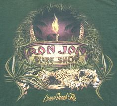Ron Jon Surf Shop Short Sleeve Cocoa Beach, FL Graphic Tee Shirt Cotton Green L #RonJon #GraphicTee