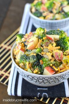 This delicious broccoli salad will keep you eating healthy!!!