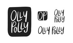 Recent Work: Olly Polly Rebrand. Hand lettering. Hand lettered. Hand drawn. Typography. Illustrated type.