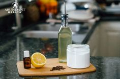 This simple mixture smells great and will leave your sink shiny and clean!