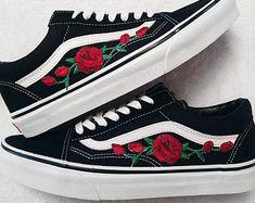 vans fleurie femme chaussure