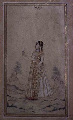 Portrait of a lady. India, ca. 1725, Jaipur Museum