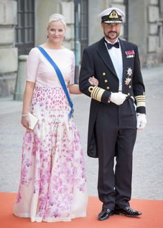 Crown Prince Haakon and Crown Princess Mette-Marit of Norway @ The Royal Wedding in Sweden 13/6/2015