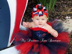Texans tutu dress and bow by My Princess Tutu Boutique