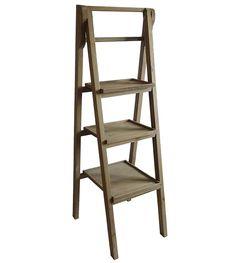 echelle tag re plante d coration vintage en bois marron fonc 4 niveaux eta100 meuble. Black Bedroom Furniture Sets. Home Design Ideas