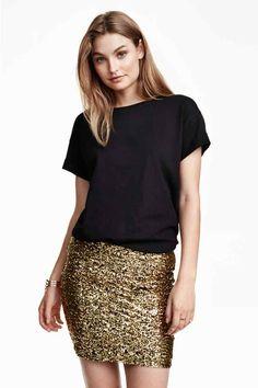 Falda brillante | H&M - 14,99€