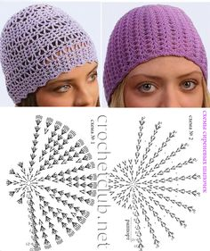 St likes lav pattern Crochet Flower Hat, Bonnet Crochet, Crochet Kids Hats, Crochet Cap, Crochet Clothes, Crochet Diagram, Crochet Hooded Scarf, Crochet Beanie, Crochet Headband Tutorial