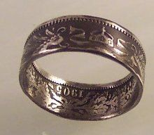 German Imperial coin made into a ring. Kinda cool