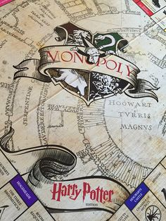 A gift and custom Harry Potter Monopoly set.                                                                                                                                                      More