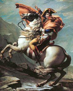Napoleon Crossing the Alps - Jacques-Louis David.